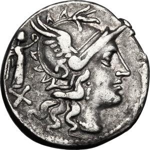 obverse: C. Terentius Lucanus.. AR Denarius, 147 BC