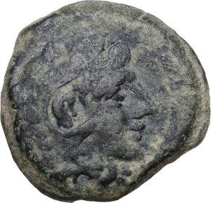 obverse: C. Terentius Lucanus.. AE Quadrans, 147 BC