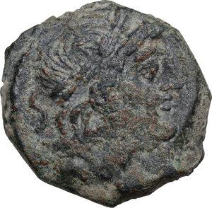obverse: C. Curiatius f. Trigeminus.. AE Semis, 135 BC