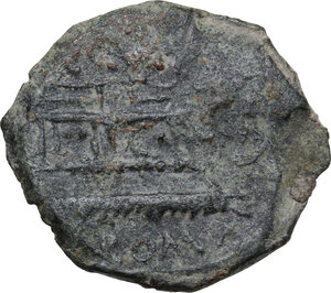 reverse: C. Curiatius f. Trigeminus.. AE Semis, 135 BC