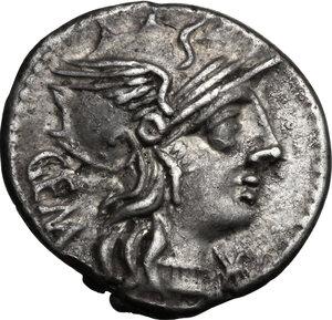 obverse: C. Aburius Geminus.. AR Denarius, 134 BC