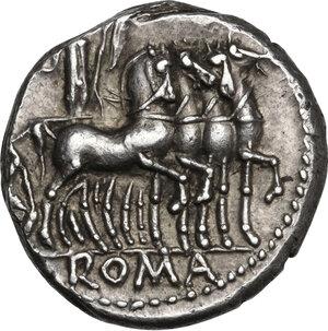 reverse: M. Acilius M.f.. AR Denarius, 130 BC