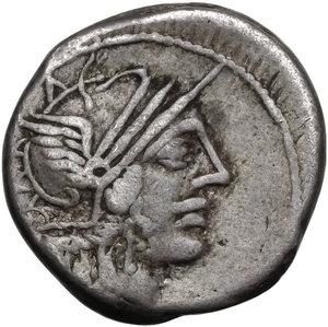 obverse: C. Porcius Cato.. AR Denarius, 123 BC