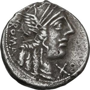 obverse: M. Fannius C.f. . AR Denarius, 123 BC