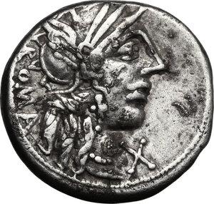 obverse: M. Fannius C. f.. AR Denarius, 123 BC