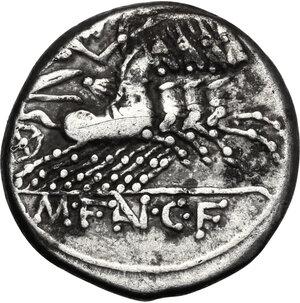 reverse: M. Fannius C. f.. AR Denarius, 123 BC