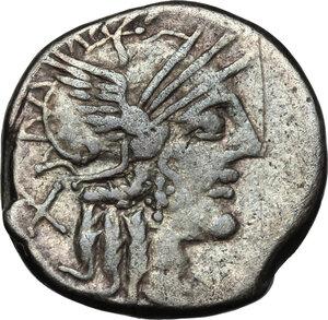 obverse: Cn. Papirius Carbo. . AR Denarius, 121 BC