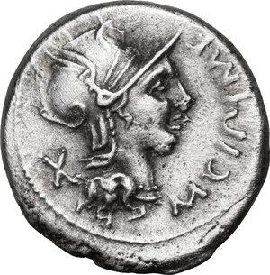 obverse: M. Cipius M.f. . AR Denarius, 115 or 114 BC