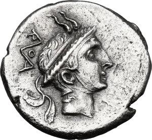obverse: L. Philippus. . AR Denarius, 113 or 11 BC