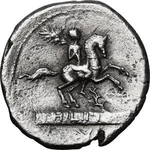 reverse: L. Philippus. . AR Denarius, 113 or 11 BC