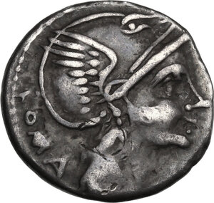 obverse: L. Flaminius Chilo.. AR Denarius, 109-108 BC