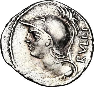 obverse: P. Servilius M.f. Rullus. . AR Denarius, 100 BC