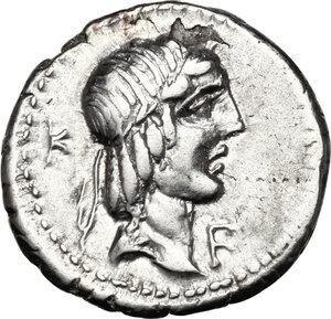 obverse: L. Calpurnius Piso Frugi. AR Denarius, 90 BC