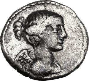 obverse: Q. Titius. AR Quinarius, 90 BC