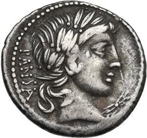 obverse: Vibius C.f. Pansa. AR Denarius, circa 90 BC
