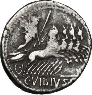 reverse: Vibius C.f. Pansa. AR Denarius, circa 90 BC