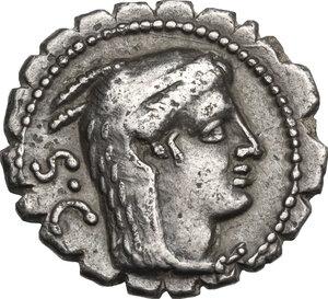 L. Procilius. AR Denarius serratus, 80 BC