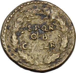 Titus as Caesar (69-79).. AE Dupondius, 72-73