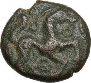obverse: Northeast Gaul, Ambiani.  Pseudo-autonomous issue. Temp. of Trajan.. AE 13 mm, circa 50-30 BC