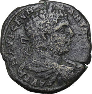 obverse: Caracalla (198-217). AE 30.5 mm. Augusta Traiana (Thrace)