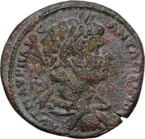 obverse: Caracalla (198-217). AE 30.5 mm. Pautalia (Thrace)