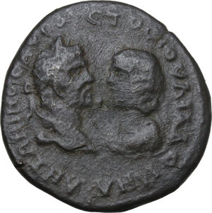 obverse: Caracalla and Julia Domna (198-217).. AE 26.5 mm. Marcianopolis (Moesia Inferior)
