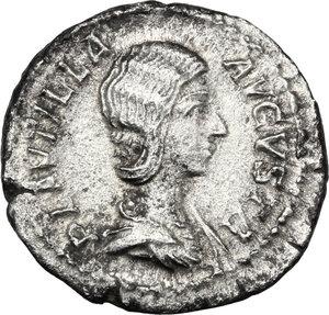 obverse: Plautilla (died 212 AD).. AR Denarius, 202-205