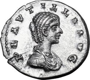 obverse: Plautilla (died 212 AD).. AR Denarius, Laodicea ad Mare mint, 202-205