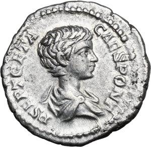 obverse: Geta (198-211).. AR Denarius, 200-205 AD