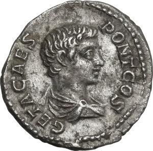 obverse: Geta (198-212).. AR Denarius