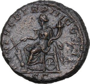 reverse: Geta (198-212).. AE As. Struck 211 AD