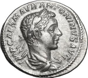 obverse: Elagabalus (218-222 AD).. AR Denarius