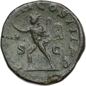 reverse: Elagabalus (218-222).. AE Sestertius. Struck 220 AD