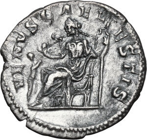 reverse: Julia Soaemias, mother of Elagabalus (died 222 AD).. AR Denarius. Struck under Elagabalus, 218-220 AD