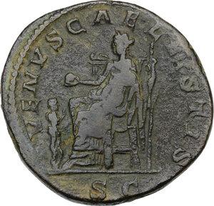 reverse: Julia Soaemias, mother of Elagabalus (died 222 AD).. AE Sestertius. Struck under Elagabalus, 218-220 AD