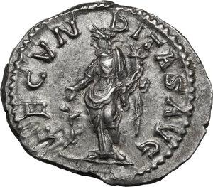 reverse: Julia Maesa (died 225 AD).. AR Denarius, 218-222