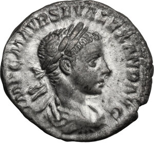 obverse: Severus Alexander (222-235 AD).. AR Denarius, 222-228