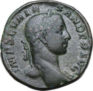 obverse: Severus Alexander (222-235 AD).. AE Sestertius, 231 AD