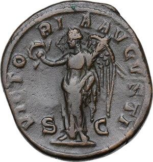 reverse: Severus Alexander (222-235 AD).. AE Sestertius, 231 AD