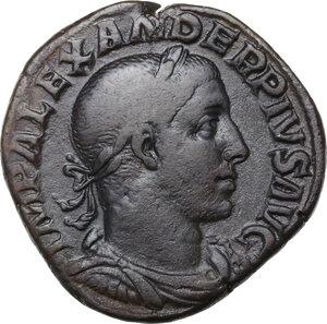 obverse: Severus Alexander (222-235 AD).. AE Sestertius, 232 AD