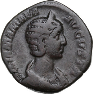 obverse: Julia Mamaea, daughter of Julia Maesa, mother of Severus Alexander (died 225 AD).. AE Sestertius. Struck under Severus Alexander, 226 AD