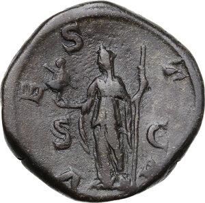reverse: Julia Mamaea, daughter of Julia Maesa, mother of Severus Alexander (died 225 AD).. AE Sestertius. Struck under Severus Alexander, 226 AD