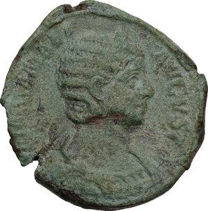 obverse: Julia Mamea (222-235 AD) . AE sestertius, Rome