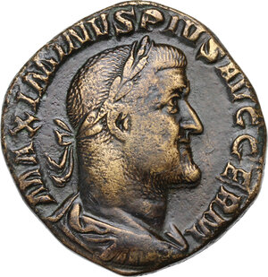 obverse: Maximinus I (225-238).. AE Sestertius, late 236-237 AD