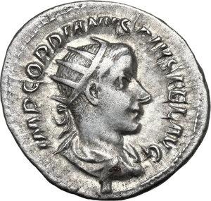 obverse: Gordian III (238-244 ).. AR Antoninianus, 3dr issue, 240 AD