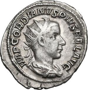 obverse: Gordian III (238-244 ).. AR Antoninianus, 3rd issue