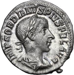 obverse: Gordian III (238-244).. AR Denarius, mid 240 AD