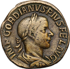 obverse: Gordian III (238-244). AE Sestertius,  241-early 243 AD