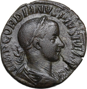 obverse: Gordian III (238-244 AD).. AE Sestertius, 241 AD