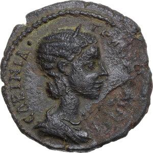 obverse: Tranquillina, wife of Gordian III (241-244).. AE Triassarion, Istros (Moesia Inferior)
